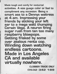 Clobber Skateboard Clothing Advert July 1992