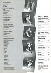 Contents of Rad Magazine issue
