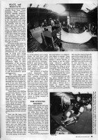 Continuation of article about skateboard comp in Dundee in 1989