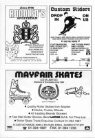 Rodolfos, Custom Riders and Mayfair Skates Adverts