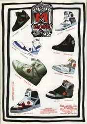 M Zone Skate Shoe Advert from 1989