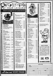 Everything at Your Leisure Advert December 1989