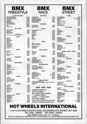 Hot Wheels BMX Advert December 1989