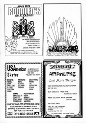 Airbourne Zorlac, Rodolfos, Wheels and Waves plus USA American Skates Adverts