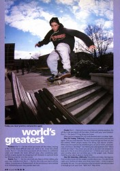 Un-named skateboarder, Fairfield Halls, Croydon, 1991