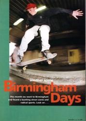Skateboarding in Birmingham 1991