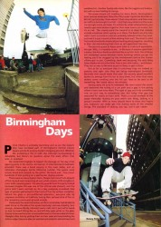 Egan and Powers skate Birmingham streets from 1991 Rad skateboard Magazine