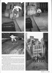 Concrete City. Close of article about skateboarding in Birmingham in 1991