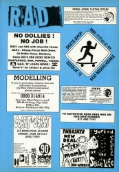 Adverts from 1993 issue of Rad Skateboard Magazine