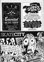 Rodolfos, Method Air and Skate City Adverts from 1991 UK skateboard magazine