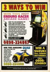Win an Enduro Racer Arcade Game in 1991