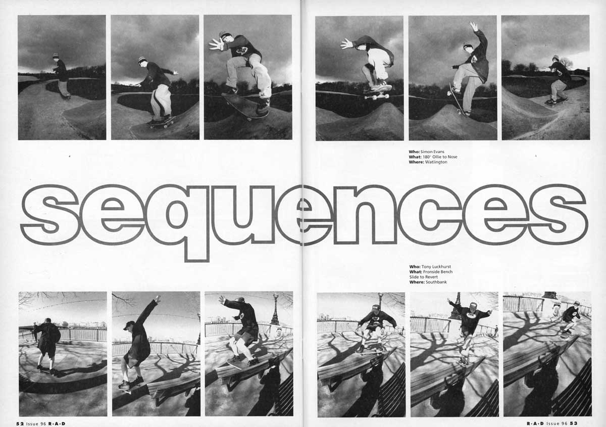 Sequences: 180 Ollie To Nose And Frontside Bench Slide To Revert