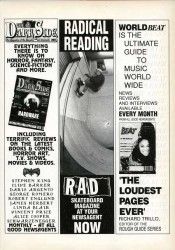 Dark Side and World Beat Magazine Adverts 1991