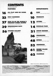 Contents Page from May 1991 R.a.D Magazine