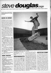 Steve Douglas America Skateboard News May 1991