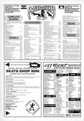 Rollersnakes, Off-beat and Skateshop Nini skateboard mail order adverts